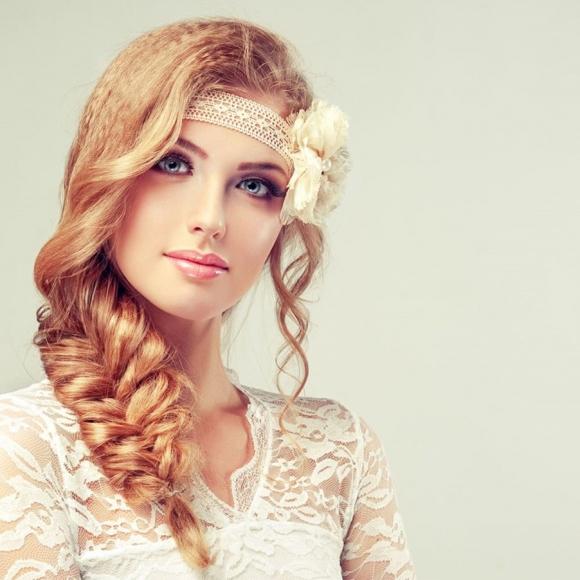 Włosy karbowane i warkocz - super połączenie