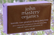 John Masters Lavender, Rose Geranium & Ylang Ylang mydło organiczne