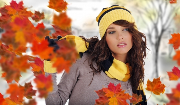 jesienne noszenie czapek