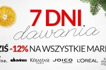 Ostatni dzień promocji 7 Dni Dawania – promocja na wybrane marki (12% taniej!)