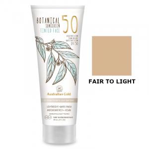 Australian Gold SPF50 Botanical Tinted Face - Przeciwsłoneczny krem BB do twarzy - Fair to Light