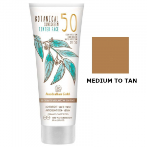 Australian Gold SPF50 Botanical Tinted Face - Przeciwsłoneczny krem BB do twarzy - Medium to Tan