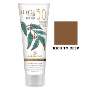 Australian Gold SPF50 Botanical Tinted Face | Przeciwsłoneczny krem BB do twarzy - Rich to Deep