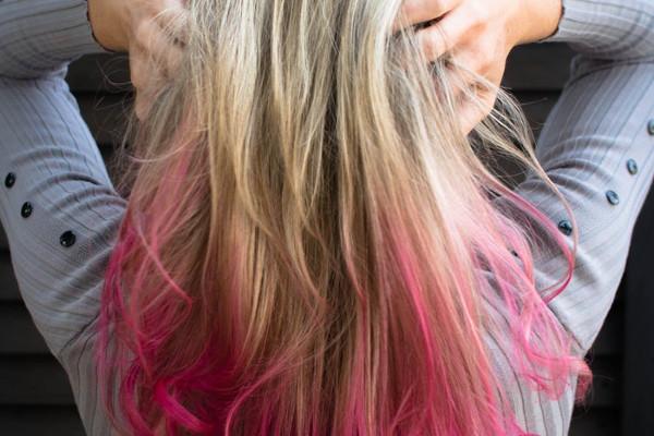 odświeżenie koloru włosów farbowanych