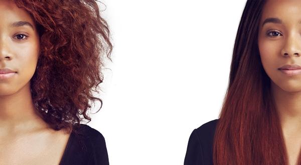 Kręcone i proste włosy prostownica parowa