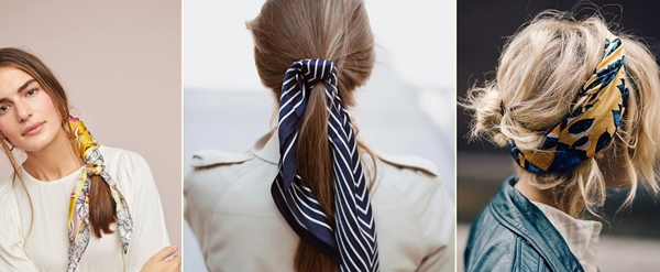 włosy trendy 2019 - bandamki