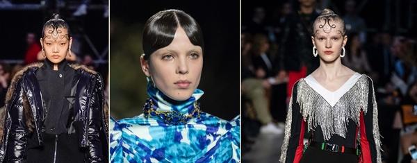 włosy trendy 2019 - grzywka