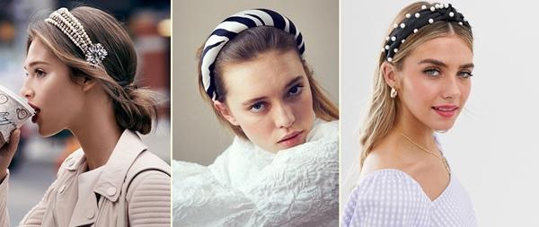 włosy trendy 2019 - opaski