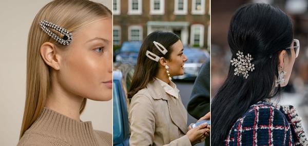 włosy trendy 2019 - ozdoby do włosów