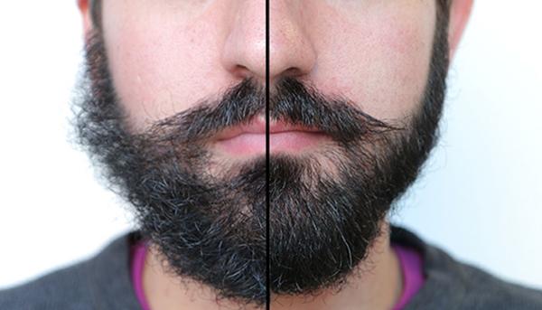 Pielęgnacja brody - przed i po