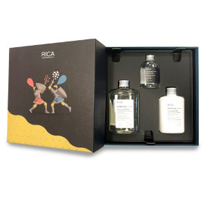 Rica Opuntia Oil for Men Gift Box | Zestaw prezentowy dla mężczyzn: szampon 250ml + odżywka 150ml + olejek do brody 65ml