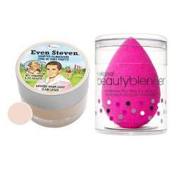 TheBalm Even Steven Lighter than Light and Beauty Blender | Zestaw do makijażu: podkład 13,4ml + gąbka do makijażu