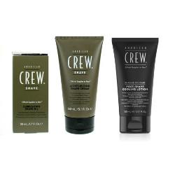 American Crew Shave Oil, Shave Cream and Shave Cooling Lotion   Zestaw do golenia dla mężczyzn: olejek 50ml + krem 150ml + lotion 150ml