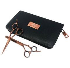 Olivia Garden SilkCut Pro Shear Kit Copper | Zestaw do strzyżenia: nożyczki 5,75'' + degażówki 6,35'' + etui