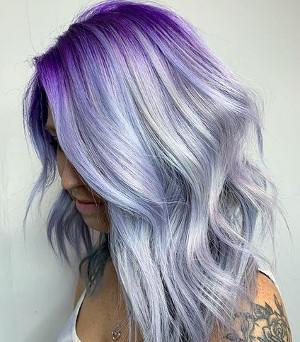 lawendowe włosy