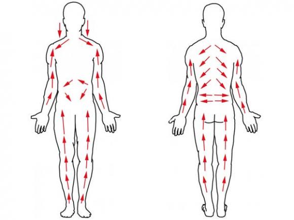 W jakim kierunku szczotkować ciało na sucho?