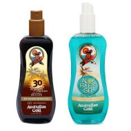 Spray Gel Bronzer SPF30 and Aloe Freeze Spray | Zestaw do opalania: spray do opalania z bronzerem 237ml + chłodzący spray po opalaniu 237ml