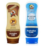 Lotion Bronzer SPF30 and Moisture Lock | Zestaw do opalania: balsam do opalania z bronzerem 237ml + balsam po opalaniu 227g