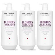 DualSenses Blondes and Highlights | Zestaw: odżywka do włosów blond 3x1000ml
