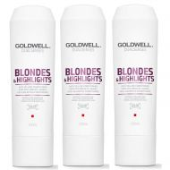 DualSenses Blondes and Highlights | Zestaw: odżywka do włosów blond 3x200ml