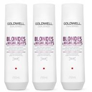 DualSenses Blondes and Highlights | Zestaw: szampon do włosów blond 3x250ml